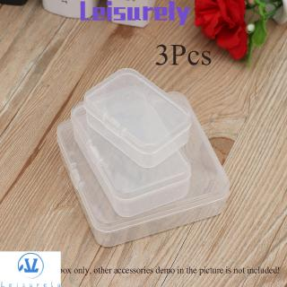 💜LEILY💜 3Pcs Useful Craft Storing Transparent Collection Storage Boxes