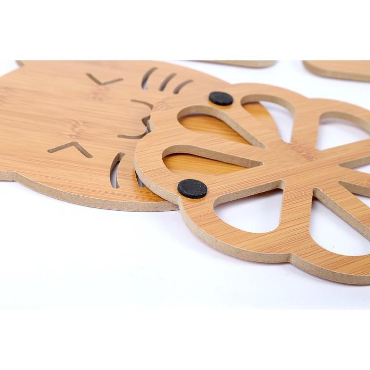 Đế gỗ lót nồi, xoong, chảo - Chịu nhiệt, chống trượt, bền đẹp