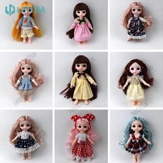 *New products* 16cm big eye doll simulation princess dress up toy clothes doll fashion style random LETITIA