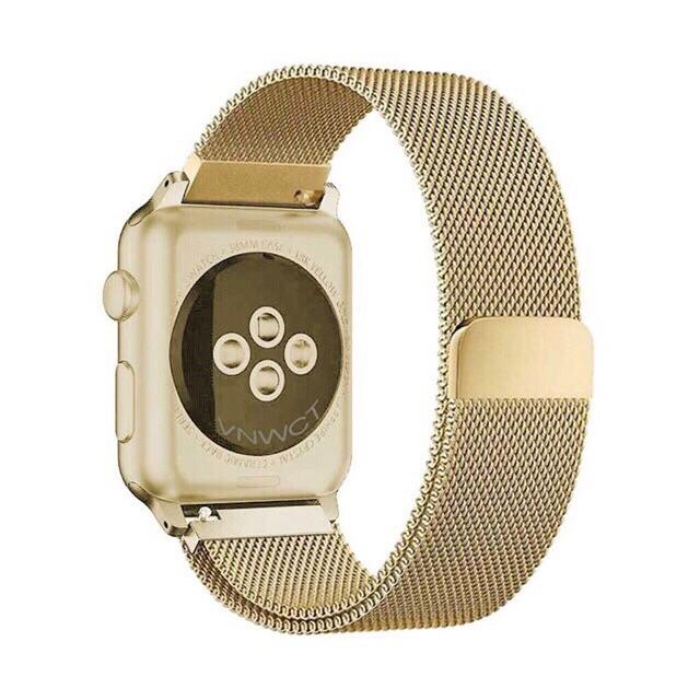 Dây thép apple watch không rỉ milanese loop