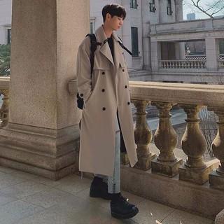 Áo măng tô nam phong cách Hàn Quốc