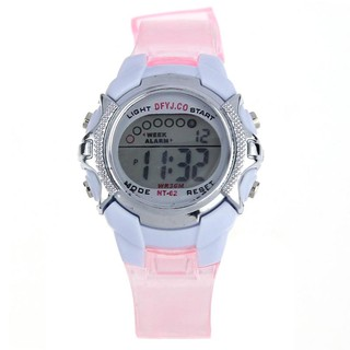 Đồng hồ điện tử kiểu dáng thể thao tích hợp đèn LED cho bé gái