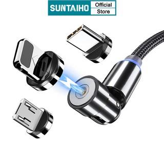 Dây Cáp Sạc Nhanh Suntaiho Xoay 540º Hỗ Trợ Cổng USB Type C/Lightning iPhone 12Pro Max 12 mini IOS/Android Micro 2M