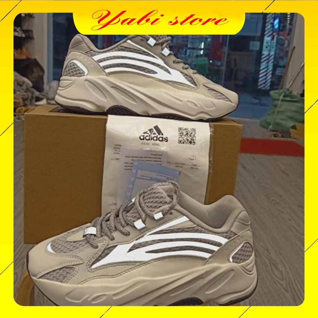 Giày thể thao Nam/Nữ YZ 700 trắng phản quang 1.1