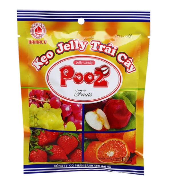 Kẹo Jelly trái cây Pooz 100g