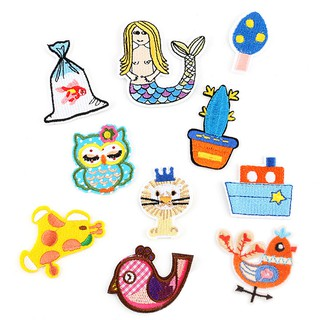 10PCS Animal Embroidered Applique Sew Iron on Cloth Patch Badge Jeans Craf