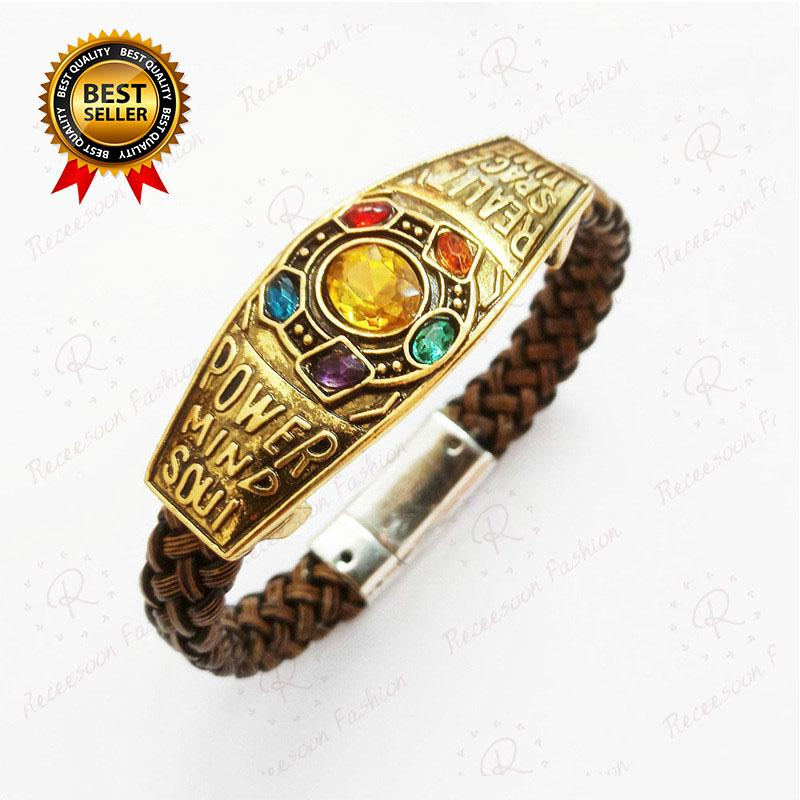 Marvel Thanos Bracelet Avengers 4 Infinity Gem Bangle Collection Fans Gifts