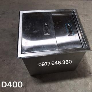 Thùng đá âm D400 inox xước 201