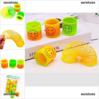 warmhome 2Pcs Magic Plastic Rainbow Funny kids Classic Rainbow Circle Elastic ring Toys thro
