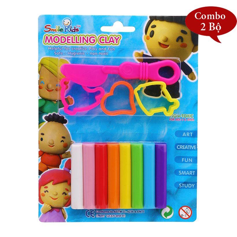 Bộ Đất sét nặn Smile Kids SK-108/3MK Hộp 8 màu - Xuất xứ Thái Lan