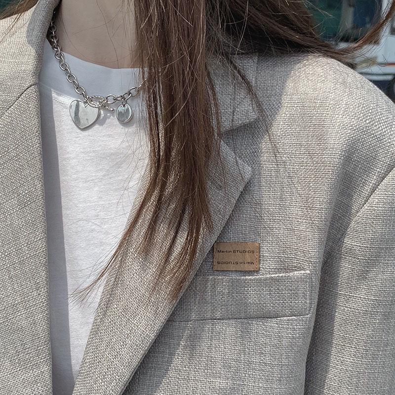 Áo Khoác Vest Mỏng Tay Dài Dáng Rộng Phong Cách Hàn Quốc Thời Trang Xuân Thu Mới Cho Nữ