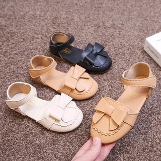 Giày Sandal Công Chúa Đế Mềm Đính Nơ Bướm Xinh Xắn Cho Bé Gái