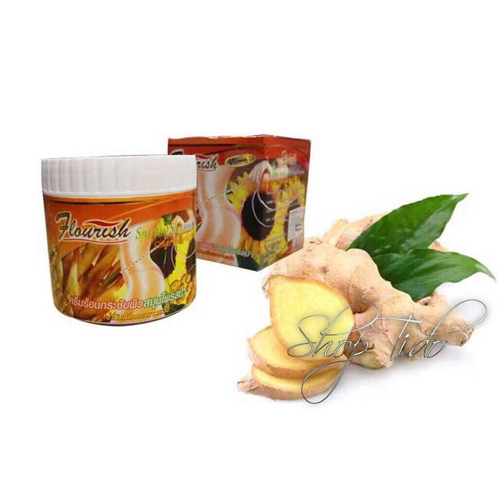 Kem tan mỡ bụng gừng ớt Flourish Thái Lan