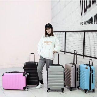 Vali kéo du lịch bọc góc size 20-24 nhiều màu, Valy giá rẻ chính hãng nhựa ABS chống va đập thời trang phong cach