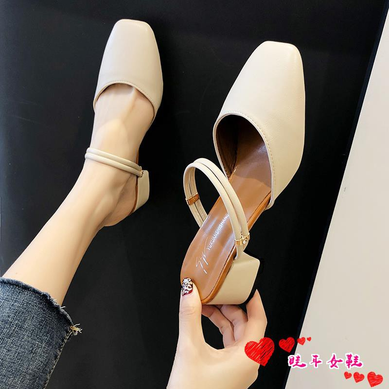 ☆spot stock ☆One shoe two wearing Baotou sandals and slipper