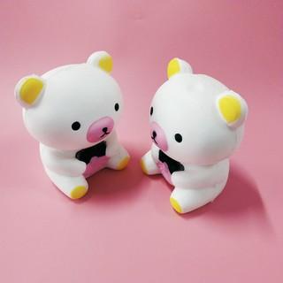 Combo squishy 2 gấu trắng cận squishy