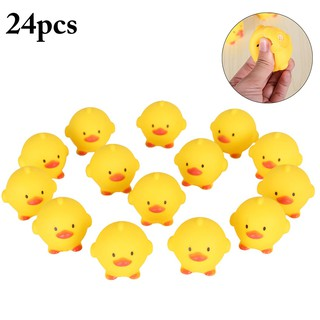 24PCS Baby Bathtoys Chick Squeaky Shower Toys for Kids