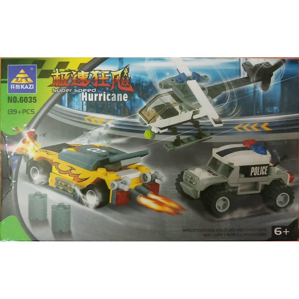 Bộ lego xếp hình máy bay ô tô khoảng 139 chi tiết