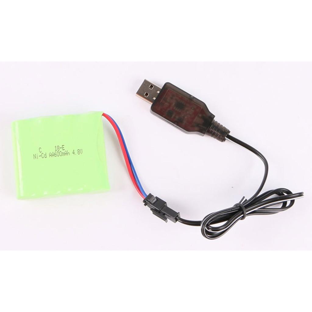 Dây sạc pin 4.8V xe điều khiển từ xa cắm cổng USB