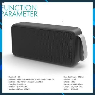 Loa Bluetooth thu FM đọc thẻ nhớ SD - TF - USB  Kết nối có dây cổng 3.5mm AUX máy tính.  (vthm9)