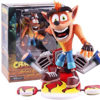 NECA Crash Bandicoot Figures Crash Bandicoot With Jet Board Deluxe Action Figure PVC Collectible Model Toy