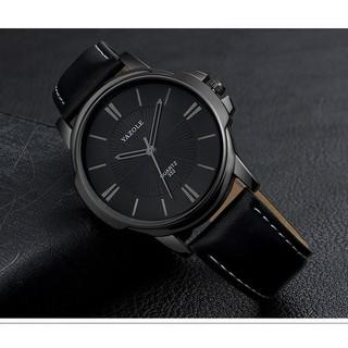 Đồng hồ nam Yazole 332 dây da thời trang cực chất (Vo đen) thumbnail
