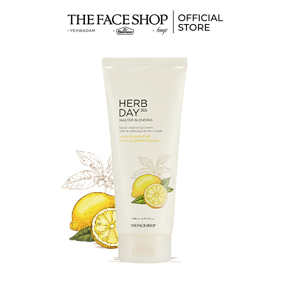 Hình ảnh Kem Tẩy Trang THEFACESHOP HERB DAY 365 MASTER BLENDING FACIAL CLEANSING CREAM LEMON & GRAPEFRUIT 170ml