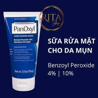 [Bill Mỹ] Sữa rửa mặt giảm mụn Panoxyl Creamy Acne Wash 4% – Foaming Acne Wash 10% Benzoyl Peroxide