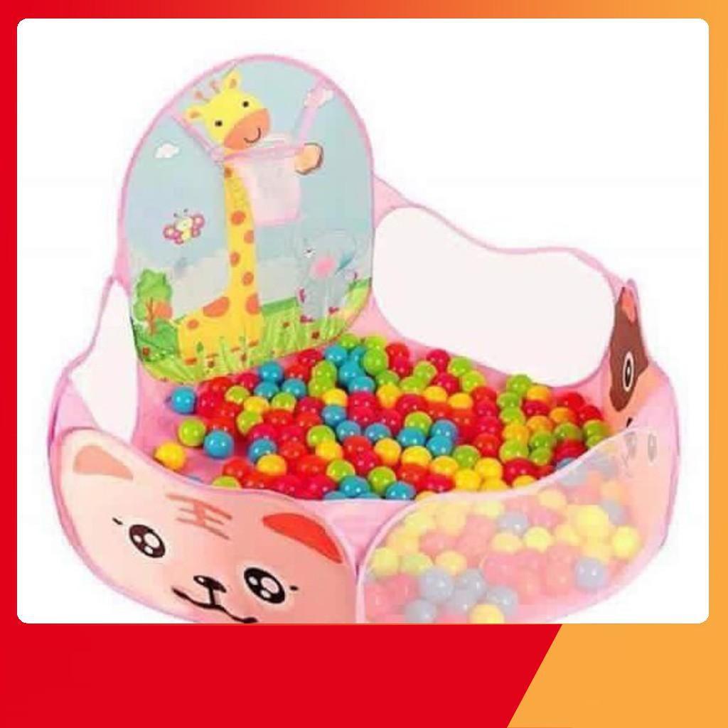 [BÃO GIẢM GIÁ] Lều banh hình thú kèm 25 banh nhựa nhiều màu - SIÊU BỀN