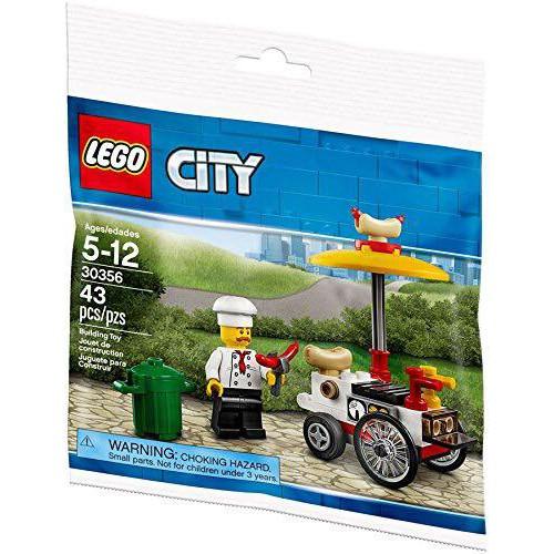 Lego UNIK BRICK POLYBAG 30356 - Chú bán xúc xích và xe