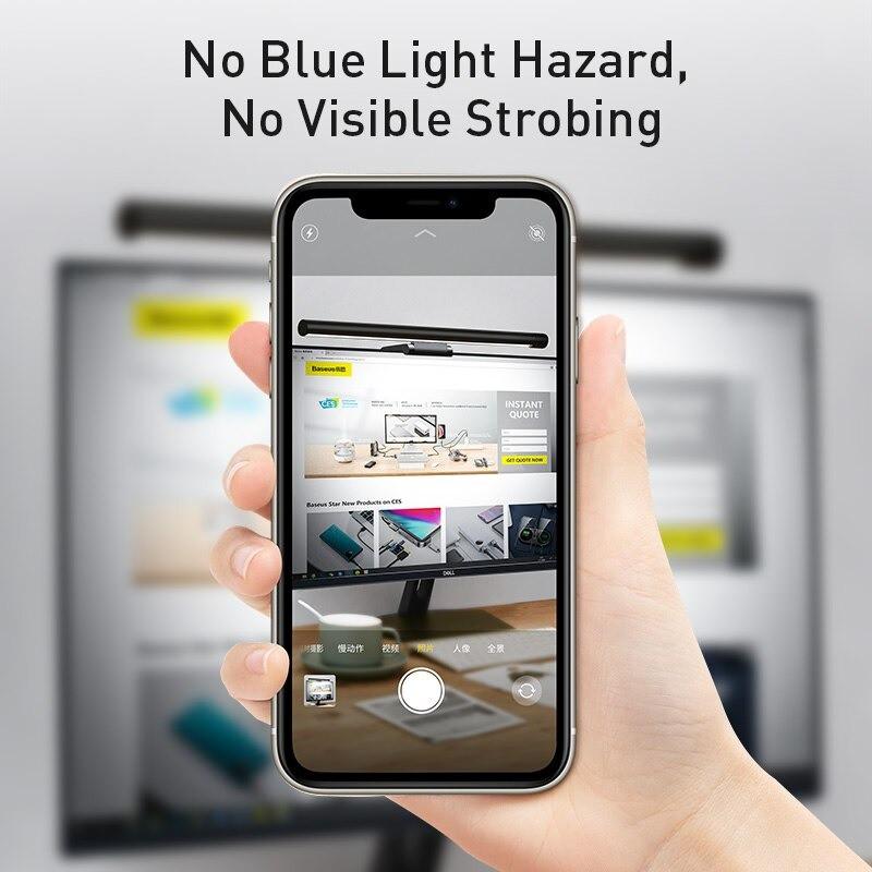 Đèn Treo Màn Hình Baseus [Bản Pro] Đèn Led Treo Màn Hình Bảo Vệ Mắt Phù Hợp Màn Mòng 5mm Đên 40mm - Toplink