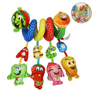 Baby Appease Toy 0-2 Years Old Fruit Bed Hanging Toys Spiral Toy Stroller Toy Baby Car Seat Toy