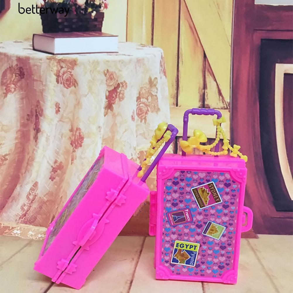Vali Du Lịch Bằng Nhựa Cho Búp Bê Barbie