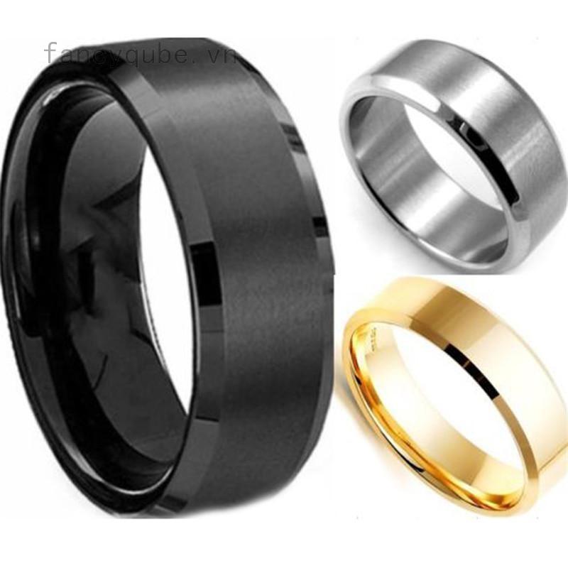 Nhẫn kim loại thiết kế trơn đơn giản cho nam
