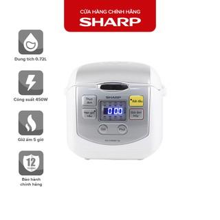 Nồi Cơm Điện Tử Sharp KS-COM08V-SL 0.72 Lít 450W [Cỡ Nhỏ, Mâm nhiệt 2D]