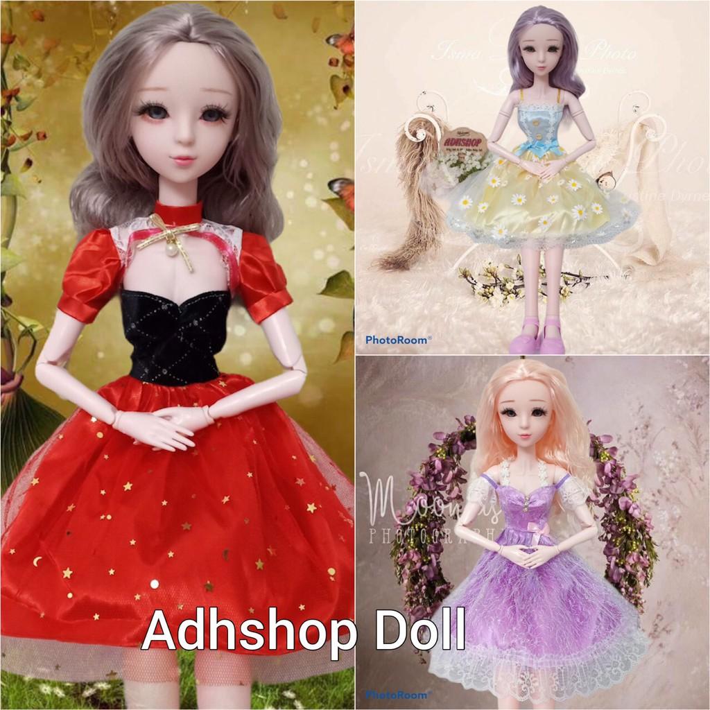 Búp Bê 60cm 💖 Búp Bê Mô Phỏng BJD Lolita Mặc Váy Công Chúa