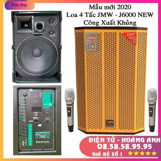 Loa kéo công suất lớn – JMW – J6000 NEW – Bass 4 tấc 2 trung 1 treble hát karaoke cực đã với 2 micro không dây cao cấp