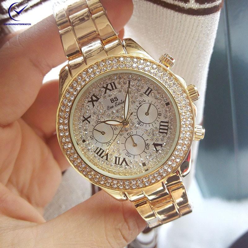 Đồng hồ nữ Bee Sister 6 kim phong cách cá tính- BS14 - (Vàng)