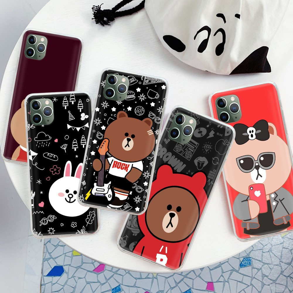 Yv16 LINE FRIENDS TPU Case Casing for iPhone 12 Mini 11 Pro X XS XR Max