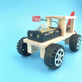 Đồ chơi lắp ráp ô tô gỗ động cơ phản lực