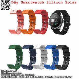 Dây Smartwatch Silicon Solar Mềm Thoáng - Hàng Sikai Chính Hãng