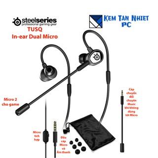 Tai nghe nhét tai Steelseries Arctis TUSQ In-ear Dual Microphone mobile gaming headset 5.0 thumbnail