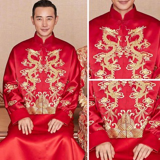 áo vest chú rể trung hoa cho nam