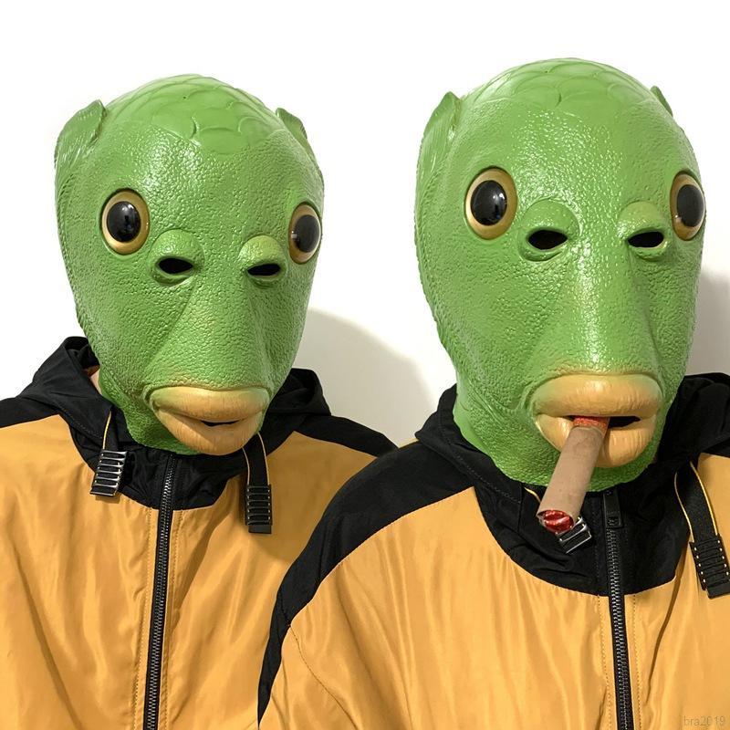 Headgear Anime Halloween Horror Funny Fish Headgear
