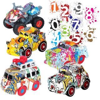 Đồ chơi trẻ em cậu bé quán tính graffiti xe buýt hợp kim mô hình xe cảnh sát thumbnail