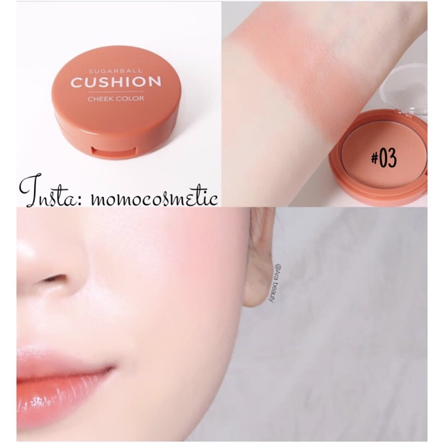 Má hồng Sugarball Cushion Cheek Color - Aritaum