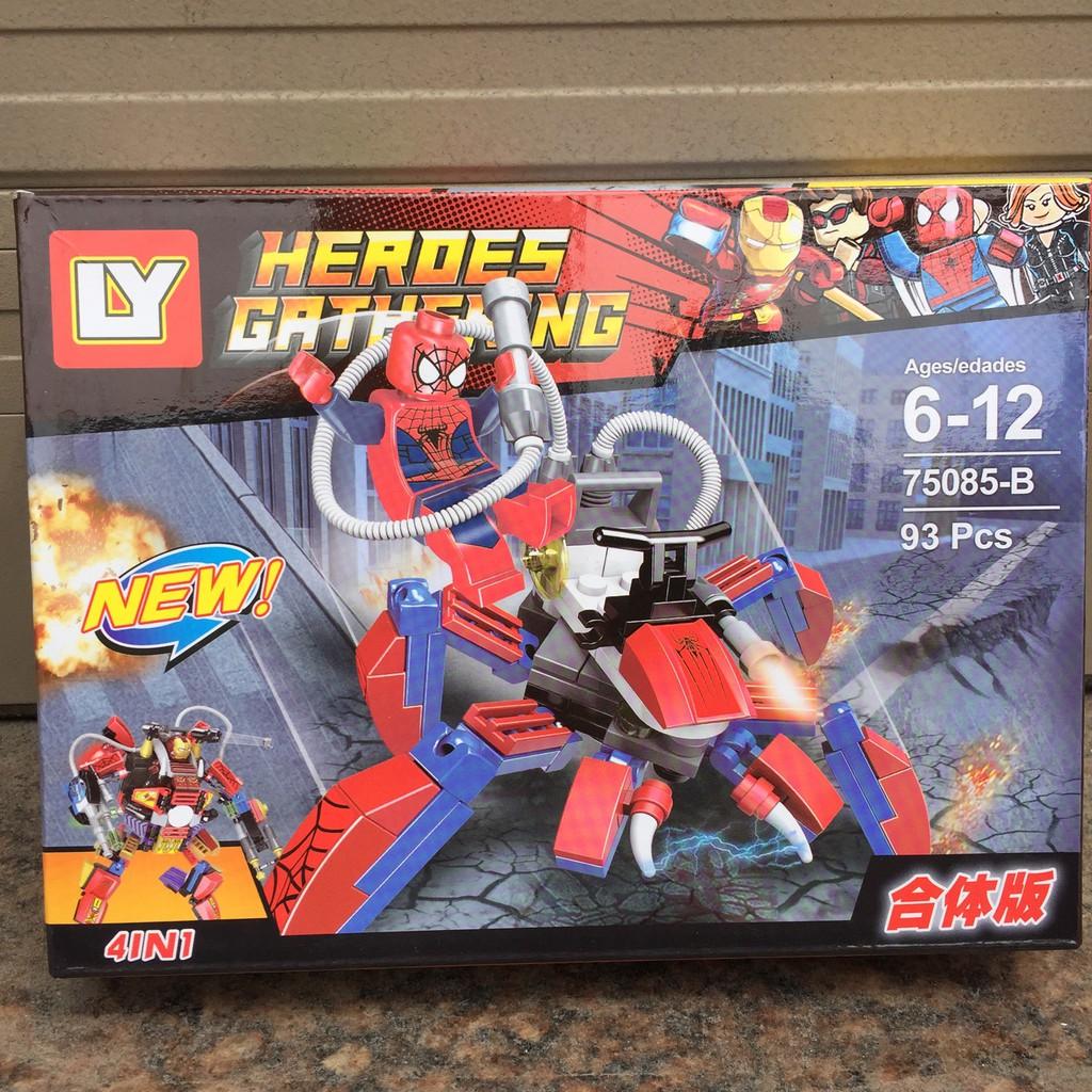 Xếp hình Lego Heroes - Người nhện Spiderman 93 chi tiết