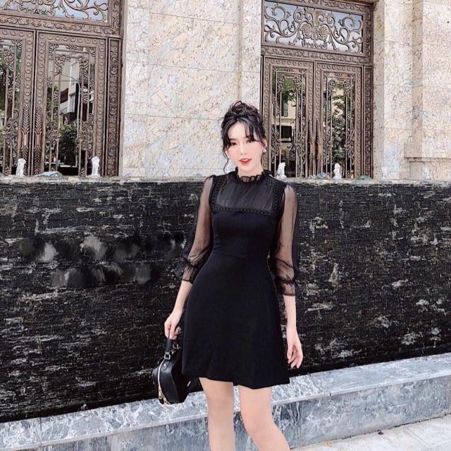 Đầm xoè viền ren cổ vuông tay bèo trắng đen  (KÈM ẢNH SÀN THẬT)t - 13691958 , 1616037493 , 322_1616037493 , 160000 , Dam-xoe-vien-ren-co-vuong-tay-beo-trang-den-KEM-ANH-SAN-THATt-322_1616037493 , shopee.vn , Đầm xoè viền ren cổ vuông tay bèo trắng đen  (KÈM ẢNH SÀN THẬT)t