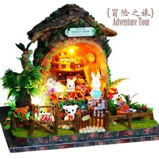 Mô hình nhà gỗ búp bê dollhouse DIY – B003 Adventure Tour