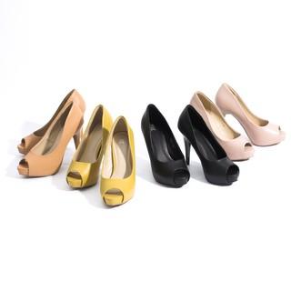 Giày Cao Gót 11cm Đúp Đế Hở Mũi Pixie P524